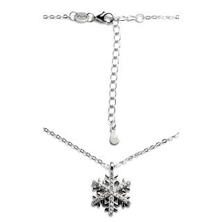 Stříbrný náhrdelník vločka