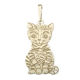 Zlatý přívěsek kočka PA0546