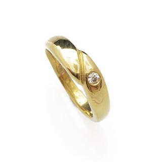 Zlatý dětský prsten ze žlutého zlata se zirkonkem 010.00007
