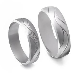 Stříbrné snubní prsteny 04.K66