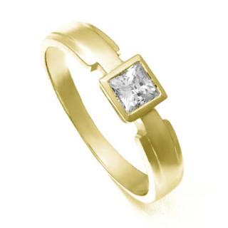 Zlatý prsten s hranatým zirkonem ZZ10.226021860