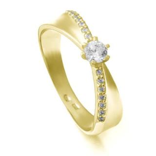 Zlatý zásnubní prsten ZZ10.224020254