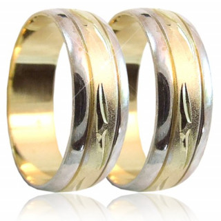 Snubní prsteny v kombinaci zlata 04.B52