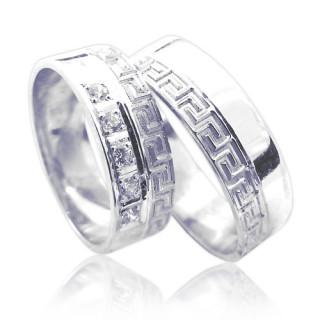 Snubní prsteny z bílého zlata 04.Ilon01