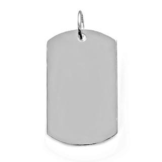 Stříbrný přívěsek destička hladká 000.00016