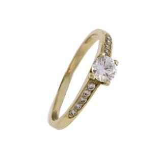 Zlatý prsten se zirkony 010.00028