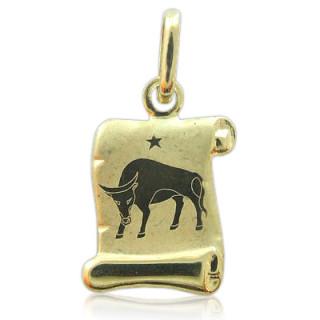 Zlatý přívěsek znamení Býk žluté zlato pergamen 000.00076