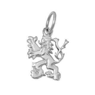 Zlatý přívěsek český lev bílé zlato 000.00014