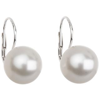 Stříbrné náušnice s perlou Swarovski 31144.1