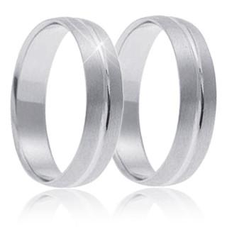 Snubní prsteny - bílé zlato 04.B758