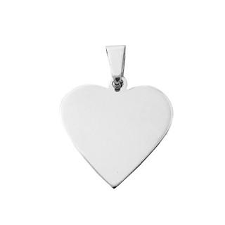 Zlatý přívěsek srdce bílé zlato ZZ2121.P11