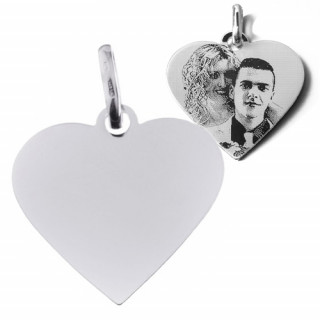 Stříbrný přívěsek srdce destička ZZ2626.P20