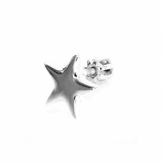 Stříbrná náušnice hvězdička 1ks 000.00059