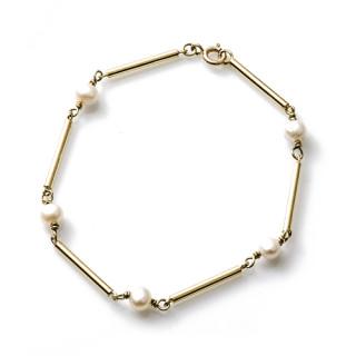Zlatý náramek s perličkami 000.00003