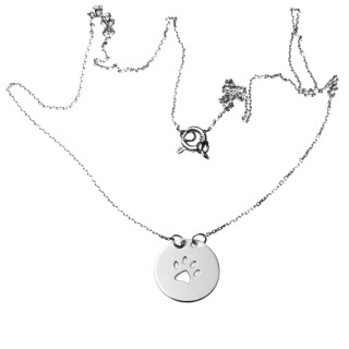 Zlatý náhrdelník s tlapkou 14.00002