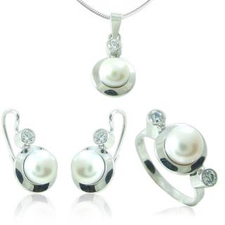 Souprava šperků s perlou 741.00001