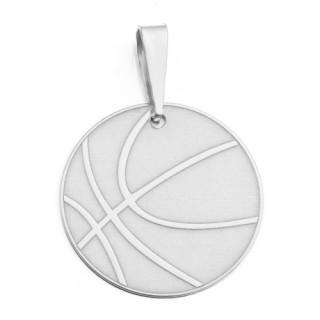Zlatý přívěsek basketbalový míč - plochý 000.00006