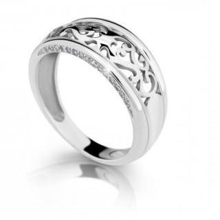 Zlatý prsten se zirkony 010.00242