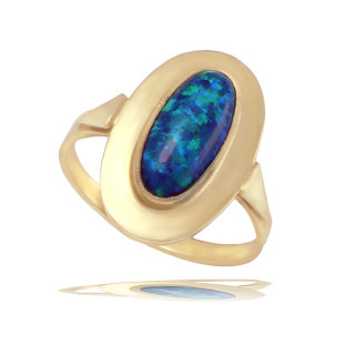 Zlatý prsten s opálem 840.00017