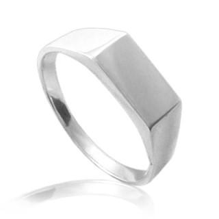 Stříbrný pánský pečetní prsten hladký 000.00033