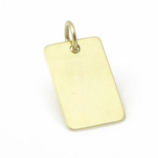 Zlatá destička žluté zlato 13x8mm P10