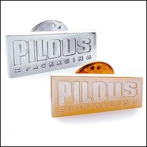 Výroba odznaků pro firmu Pilous