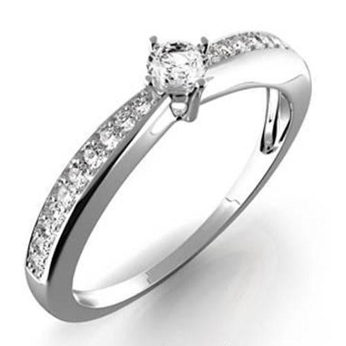 Prsten z bílého zlata s diamantem